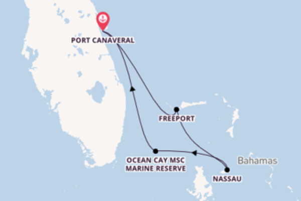 5 day journey on board the MSC Seaside from Port Canaveral