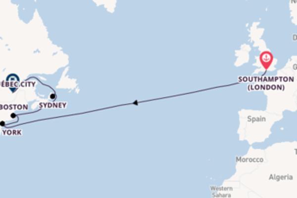 Cruising to Québec City from Southampton (London)