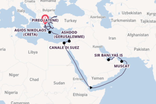 30 giorni di crociera fino a Dubai