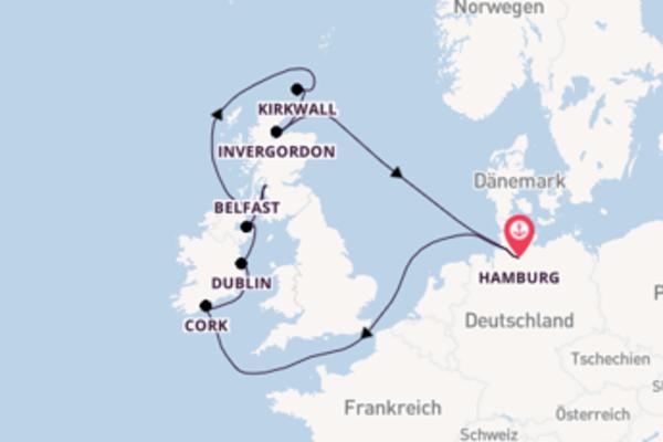 Erkunden Sie 11 Tage Dublin und Hamburg