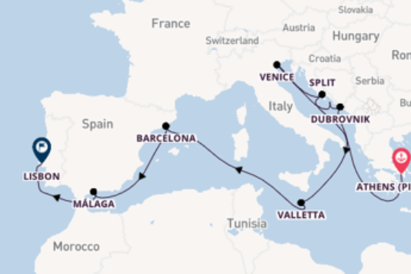 Voyage with Silversea from Athens (Piraeus) to Lisbon