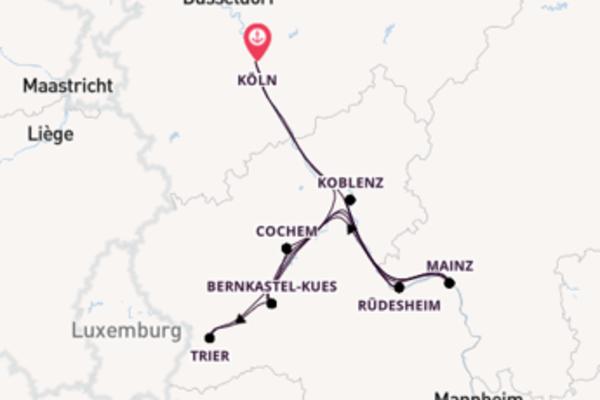 In 8 Tagen nach Köln über Koblenz