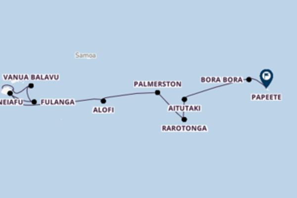 Douce croisière vers Papeete via Leleuvia