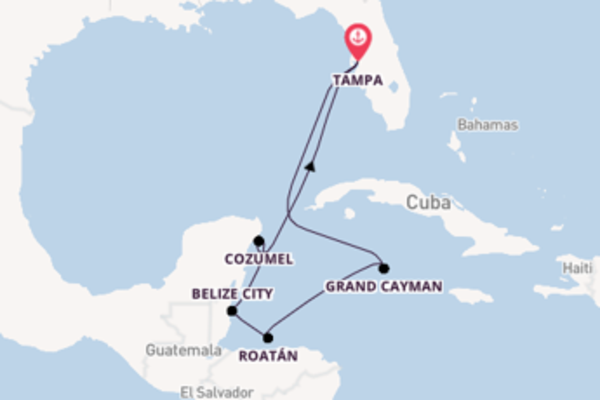 8 day cruise from Tampa, Florida