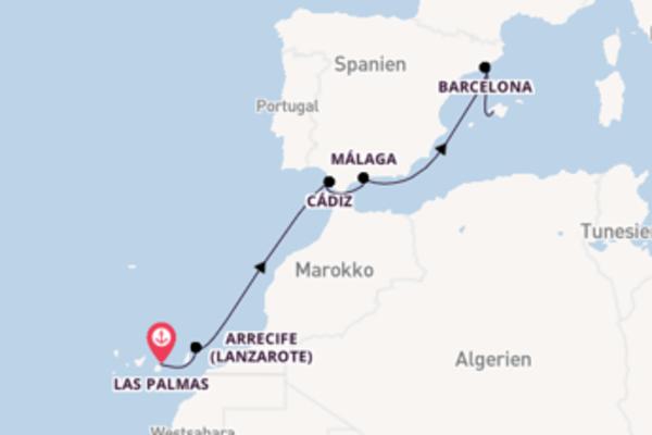 Kreuzfahrt mit AIDAnova von Las Palmas nach Palma de Mallorca