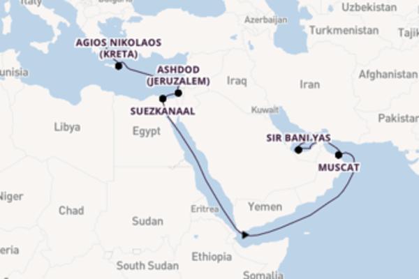 Maak een droomcruise naar Suezkanaal