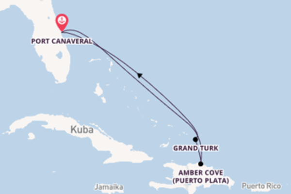 Von Port Canaveral über Amber Cove in 6 Tagen