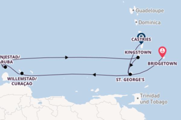 Spannende Reise über Oranjestad in 8 Tagen