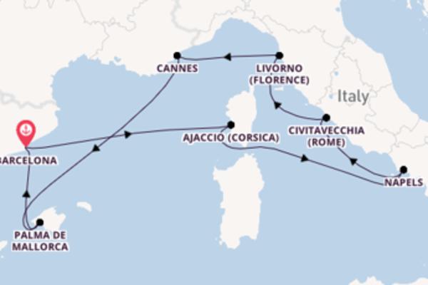 Ervaar Ajaccio (Corsica) met Norwegian Cruise Line