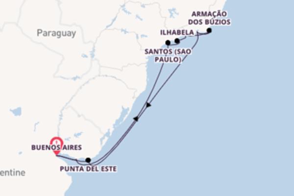 Croisière de 16 jours depuis Buenos Aires avec Azamara Club Cruises
