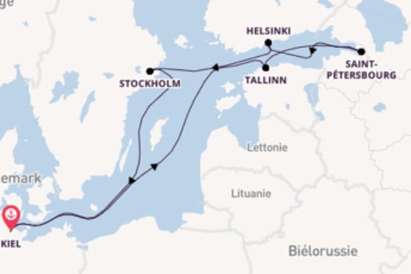 Stockholm depuis Kiel pour une croisière de 8 jours