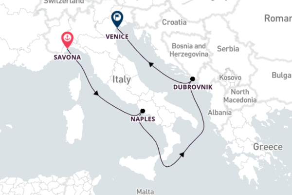 Magnificent Naples from Savona 5-Day Sail