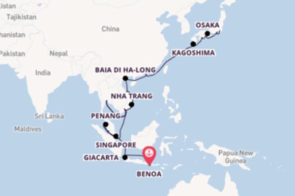 Inebriante crociera di 33 giorni passando per Kagoshima