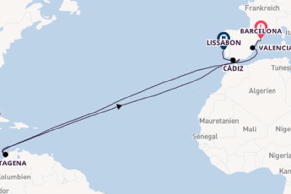 Barcelona, Tarragona und Lissabon entdecken
