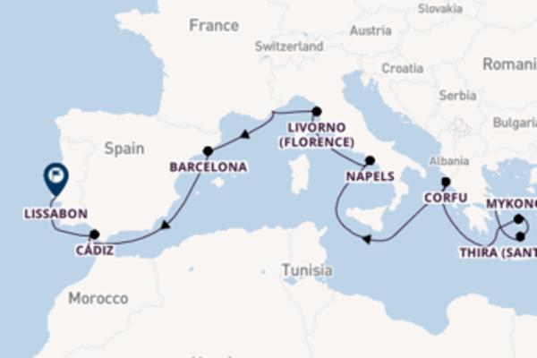 Ervaar Athene (Piraeus), Napels en Lissabon