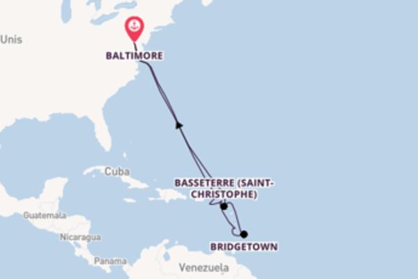 Saint Croix et une étonnante croisière depuis Baltimore