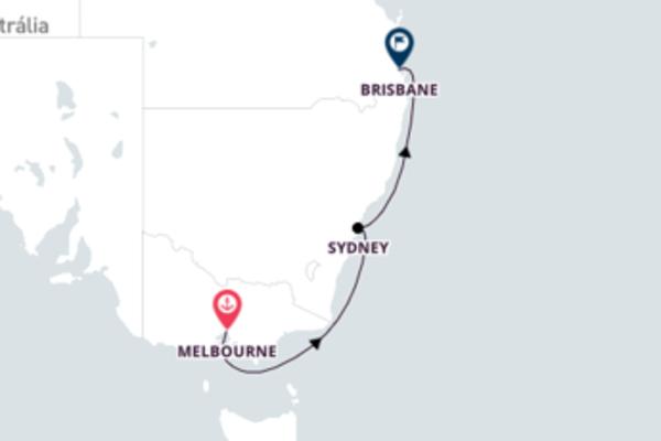 Jornada de 6 dias até Brisbane com o Queen Mary 2