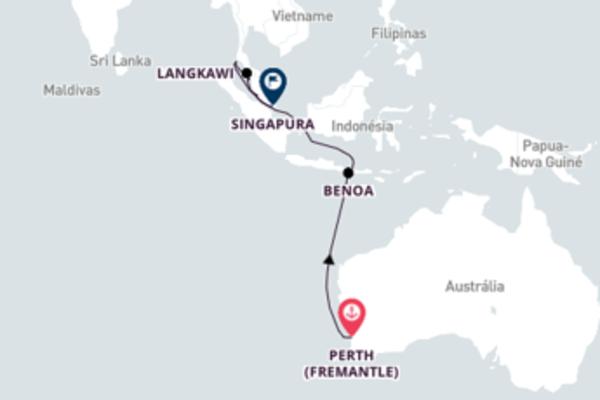 Encantador passeio de 13 dias até Singapura