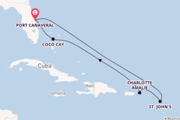 Cruising from Port Canaveral via Charlotte Amalie