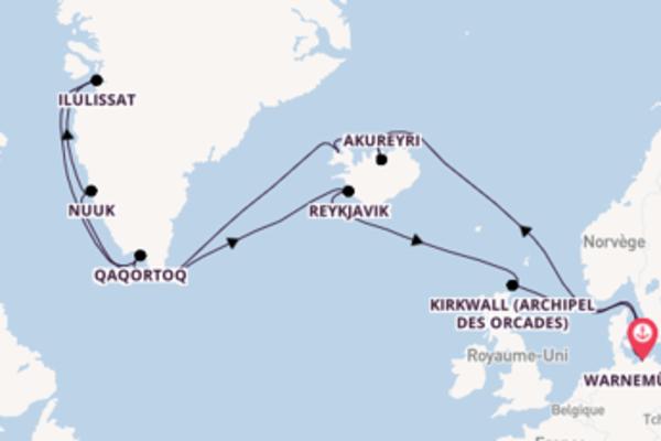 22 jours pour découvrir Ilulissat à bord du beateau MSC Poesia