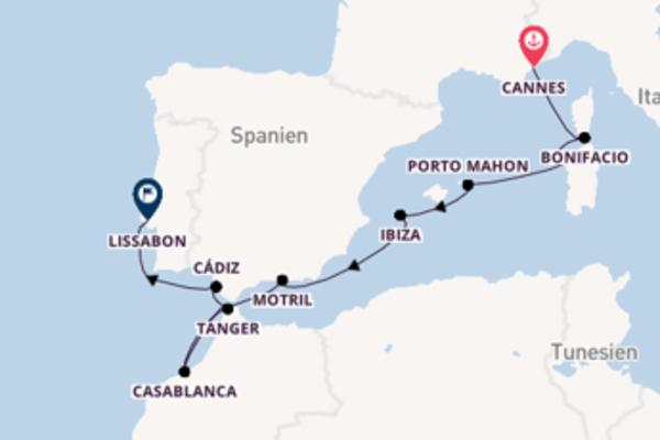 Von Cannes nach Lissabon in 13 Tagen