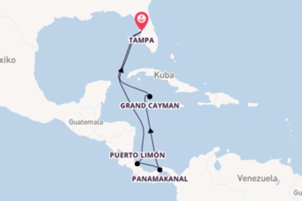 Genießen Sie Puerto Limón auf der Carnival Pride