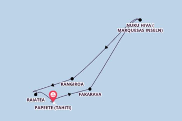 Kreuzfahrt mit der Regatta nach Papeete