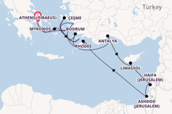 Cruise with Seabourn from Athens (Piraeus)