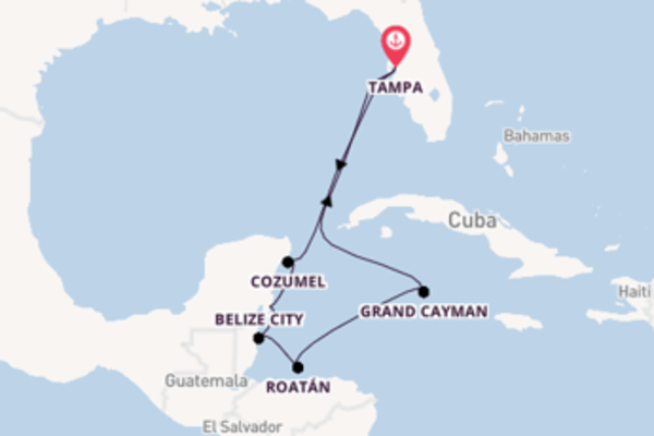 Cruise from Tampa with the Carnival Pride
