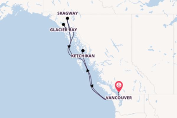 Kreuzfahrt mit der Koningsdam nach Vancouver