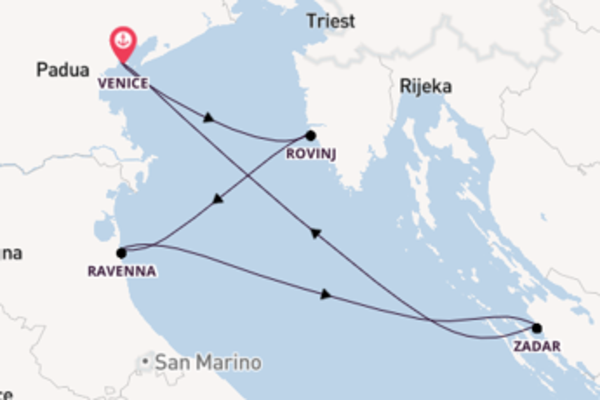 Trip with Sea Cloud Cruises from Venice