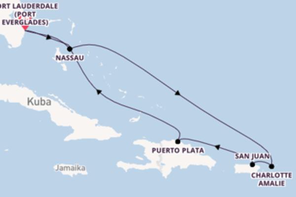 Genießen Sie 8 Tage Nassau und Fort Lauderdale (Port Everglades)
