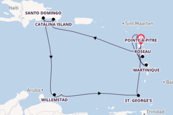 Cruise met Costa Cruises naar het adembenemende Pointe-à-Pitre