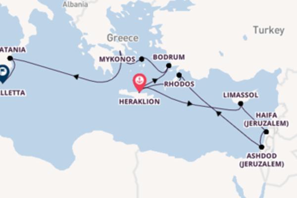 15-daagse cruise met de Mein Schiff ♥ vanuit Heraklion