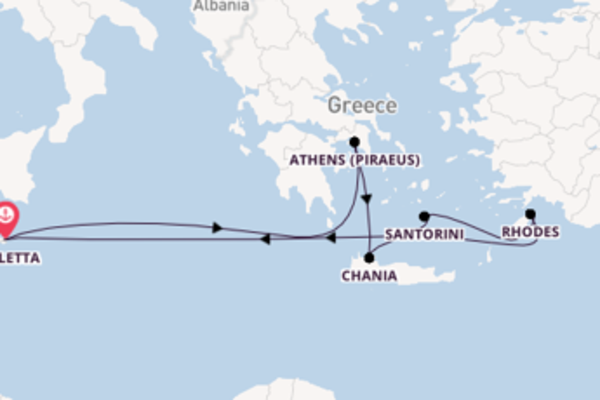 Breath-taking cruise from Valletta with P&O Cruises