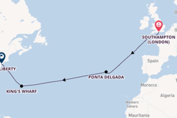 Spettacolare viaggio da Southampton verso King´s Wharf