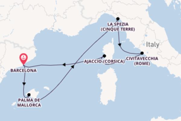8-daagse reis naar Barcelona