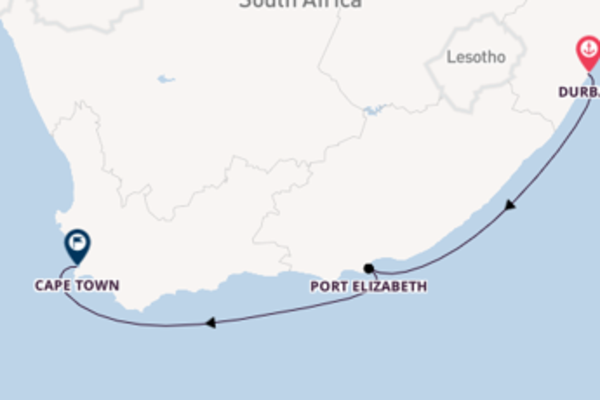 5 day voyage from Durban to Cape Town