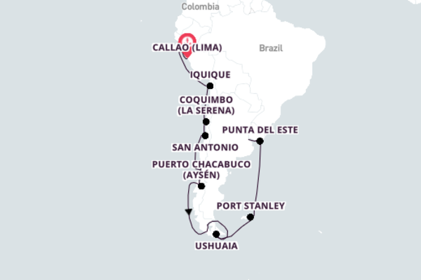 Cruising from Callao to Buenos Aires 22-Day Expedition