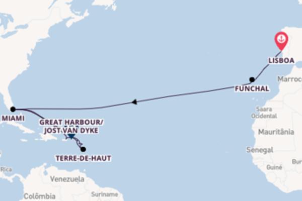 Cruzeiro de 24 dias a bordo do Seabourn Sojourn
