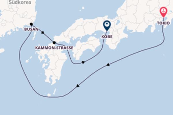 Tokio, Kammon-Straße und Kobe erleben