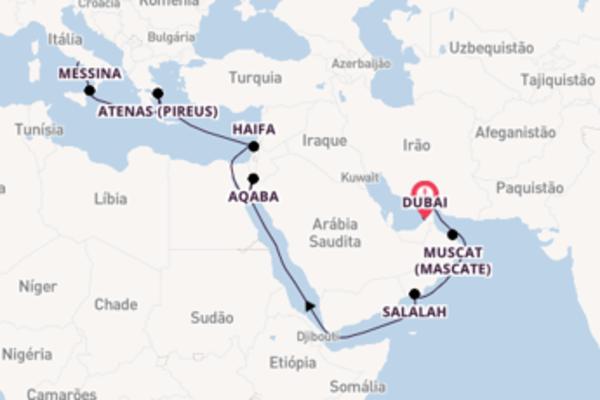 Majestoso cruzeiro de 19 dias com o Costa Diadema