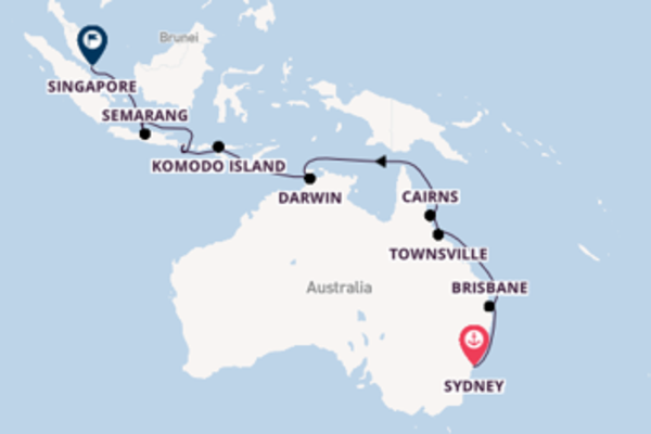Sailing from Sydney to Singapore