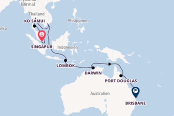 Faszinierende Reise nach Brisbane