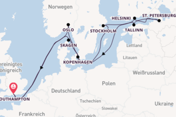 15 Tage Nordeuropa Reise