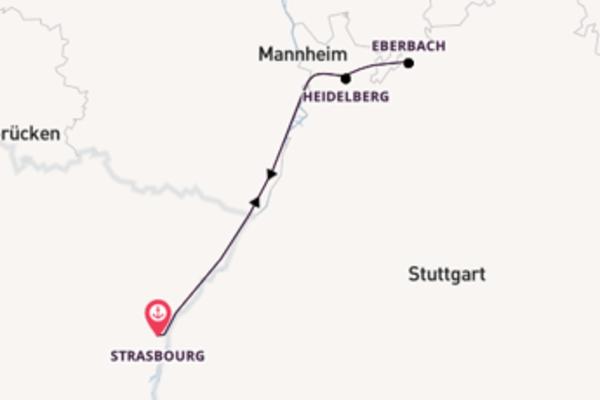 Sailing from Strasbourg via Heidelberg