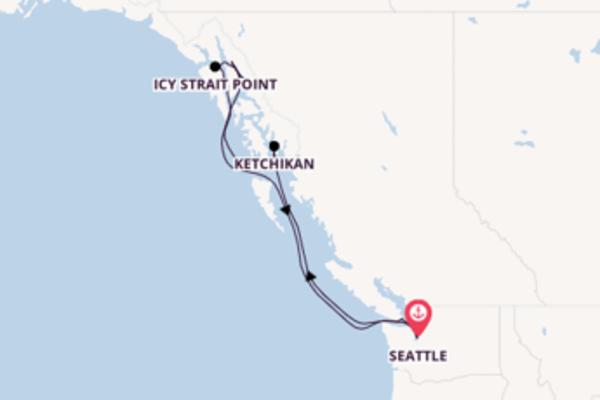 A bordo do Quantum of the Seas em um cruzeiro de 8 dias