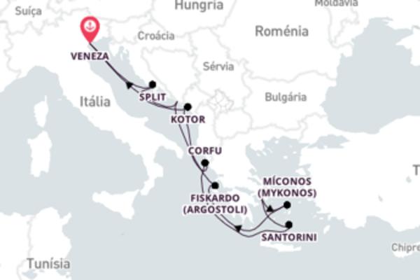 Grandiosa viagem de 11 dias a bordo do Norwegian Dawn