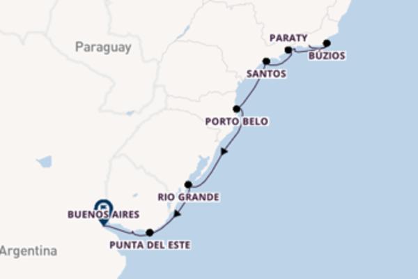 Cruising from Rio de Janeiro to Buenos Aires