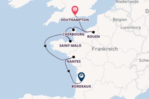 Kreuzfahrt mit Azamara Quest von Southampton nach Bordeaux